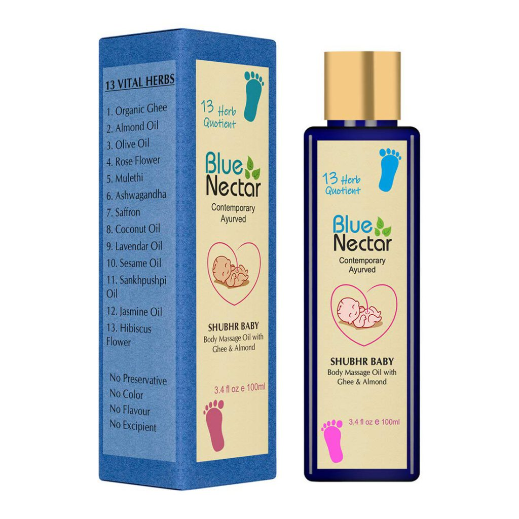 Blue Nectar Ayurvedic Baby Massage Oil