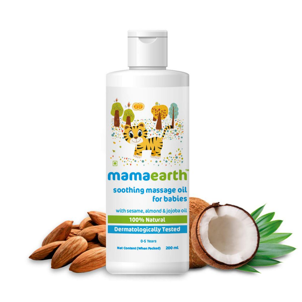 Mamaearth Soothing Baby Massage Oil, with Sesame, Almond & Jojoba Oil