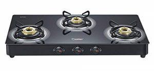 prestige gas stove 3 burner glass top